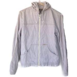 Vintage P.C.H. corduroy zip up hooded jacket